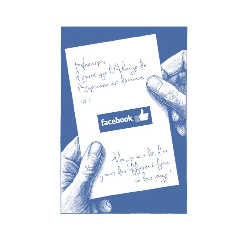 Gestion de la page facebook de l'Auberge de l'espinouse par Comète Prod